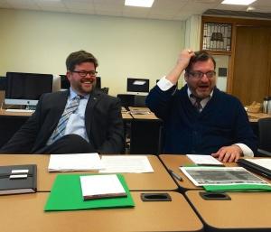 Neill McDevitt (DHCC) and Brian Morrison